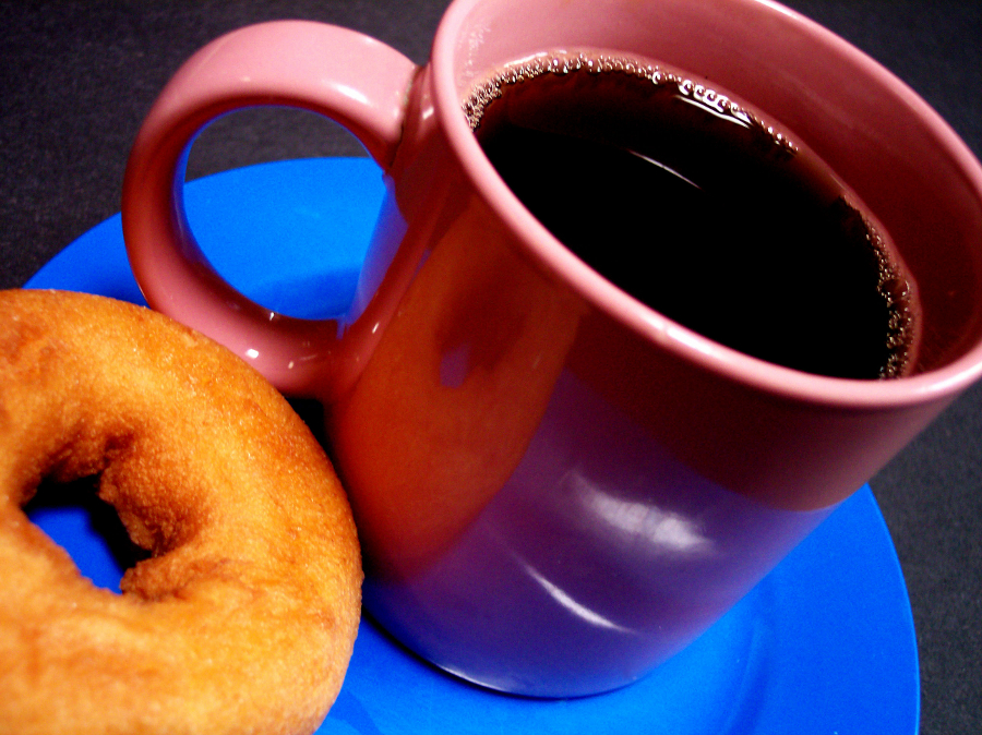 coffee and doughnut